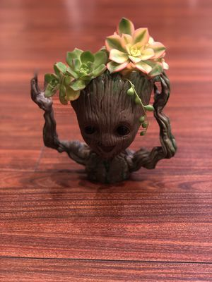 Sale! Pot Planter Groot Galaxy Man Baby Figure Flower Gift Style Toy Pen Container With Arrangement for Sale in Garden Grove, CA
