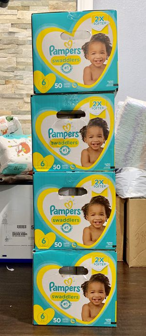 Pampers Swaddled size 6 $20 per box for Sale in Long Beach, CA