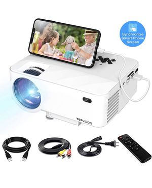Projector, Upgraded DBPOWER Mini Video Projector, Multimedia Home Theater Video Projector Supporting 1080p, HDMI, USB, VGA, AV for Home Cinema, TVs, for Sale in Rancho Cucamonga, CA