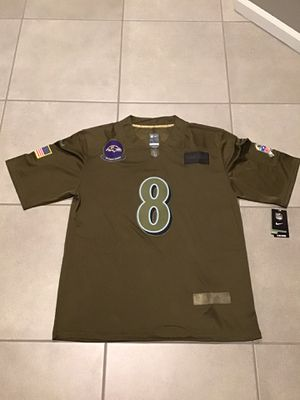 Men's Baltimore Ravens Lamar Jackson Camo 2019 Salute To Service Limited Jersey for Sale in Mount Prospect, IL