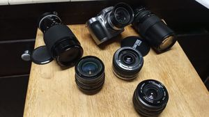 Assorted Lenses and Camera Canon,Vivitar, Nikon for Sale in Fullerton, CA