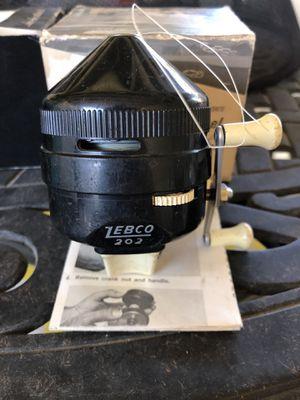 Vintage Zebco 202 Spinning Reel in Original Box w/Pamphlet for Sale in La Habra, CA