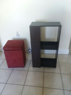 OTTOMAN AND SMALL BOOK SHELF KENDALL LAKES AREA for Sale in Miami, FL