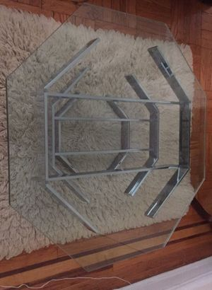Glass and Chrome Mid Century Modern Coffee Table for Sale in Queens, NY