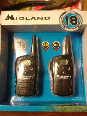 NIB Midland walkie talkies (18 miles of distance can be between the 2) for Sale in Colonial Heights, VA