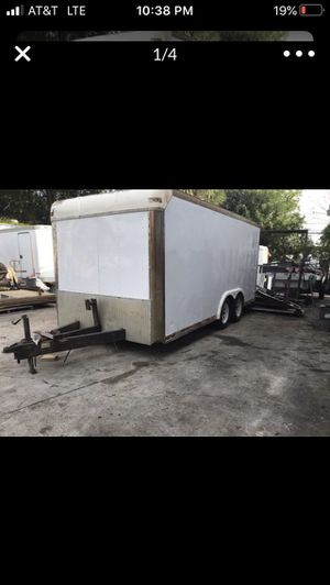 7 x 14 Enclosed cargo/landscape trailer with ramp for Sale in Hollywood, FL