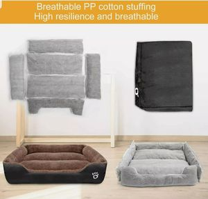 """TR pet Large Dog Beds (XXL 37.5 x 30"""") w/ Removable Cover Warm Plush Couch Bed for Sale in Garden Grove, CA"""