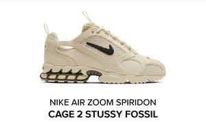 Nike air zoom spiridon cage 2 stussy fossil colorway size 10 for Sale in Tacoma, WA