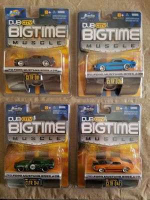 """JADA """"Ford Mustang Boss 429"""" Dub City Diecast Cars Combo Pack """"Set of 4"""" for Sale for sale  Gilbert, AZ"""