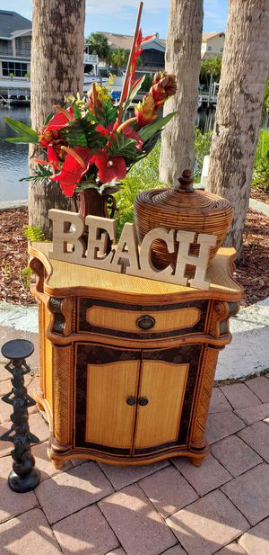 Night stand nightstand entrance table side African Tropical living room bedroom for Sale in New Port Richey, FL