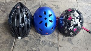 Bicycle helmets in great condition Each $10 Blue Black and Pink with black all $10 Each for Sale in Princeton, NJ