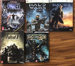 Star Wars Bioshock Halo 3 Fallout 3 strategy guides Xbox 360 for Sale in Alhambra, CA