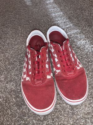 Red checkered vans for Sale in Austin, TX