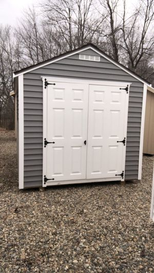 8 x 12 gable Gray vinyl shed for Sale in Portland, ME