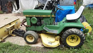 1971 John Deere 140 H3 Tractor w/Plow and Mower Deck for Sale in Brecksville, OH