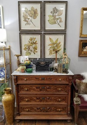 Antique Marble Top Carved Dresser/Chest of drawers for Sale in Troutdale, OR