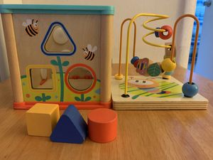 Wooden Activity Cube for Toddlers - Learning & Educational for Sale in Los Angeles, CA