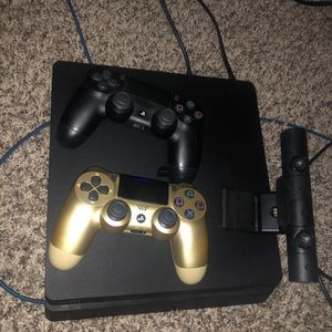 PS4 Slim 1 TB 2 Controllers And Playstation Camera for Sale in Tempe, AZ