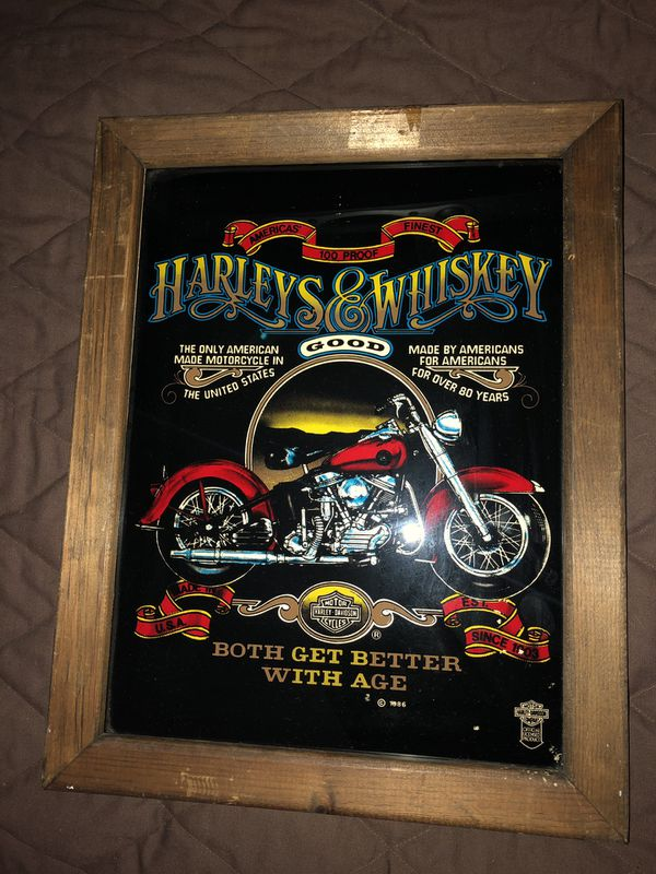 Harley Davidson framed poster from 1986