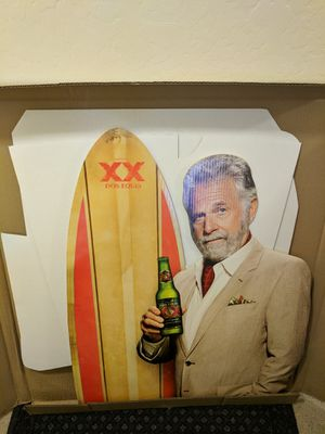 Dos Equis Beer Most Interesting Man in The World Standee Standup NIB for Sale in El Mirage, AZ