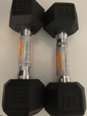 2 12 lbs dumbbells for Sale in Mableton, GA