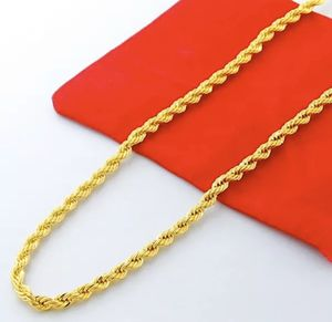 New 24K Gold Filled Stamped 20,22,24 Inch/3MM or 4MM Rope Chain/Necklace for Sale in Las Vegas, NV