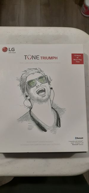 LG TONE TRIUMPH, BLUETOOTH STEREO HEADSET, DESIGNED FOR COMFORT AND POWERFUL PERFORMANCE. for Sale in Melbourne Beach, FL