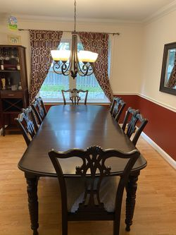 Hardwood Dining Table And Chairs for Sale in Reston,  VA