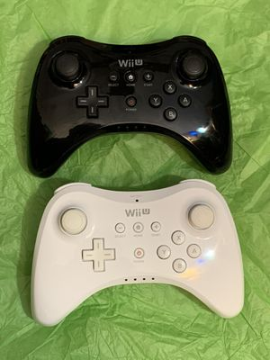 Pair of Wii U Pro Wireless Controllers for Sale in Fairfax, VA