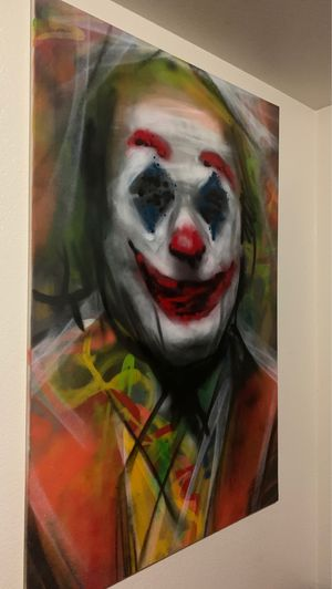 HUGE 5ft x 4ft CLOWN PAINTING 🖼 for Sale in Reedley, CA