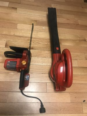 Electric blower and chainsaw they work like new homelite and craftsman for Sale in Boston, MA