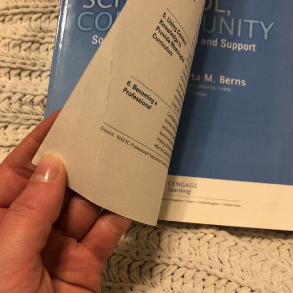 Textbook :Child , Family, School And Community