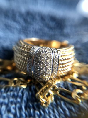 14k solid gold and genuine diamond ring for Sale in Tualatin, OR