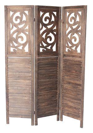 3 Panel Room Divider, Brown, 7036DB for Sale in Norwalk, CA