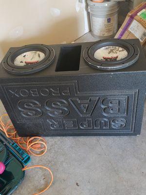 Mtx audio 10in speakers. In super bass pro box for Sale in Seattle, WA