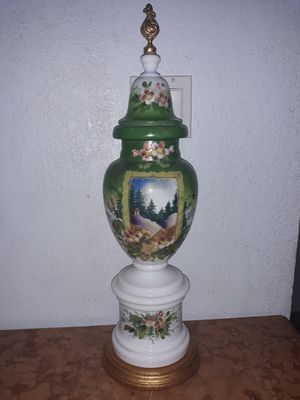 Antique large bristol glass hand painted base for Sale in Miami, FL