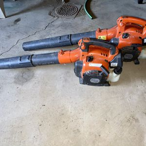 Husqvarna leaf blowers both start easy run like new no leaks or issues lightly used $100 each $175 for both I will not take less you're getting both f for Sale in Lakeside Park, KY