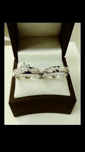 New with tag Solid 925 Sterling Silver ENGAGEMENT WEDDING Ring Set size 6 $150 set OR BEST OFFER ** WE SHIP!!📦📫** for Sale in Phoenix, AZ