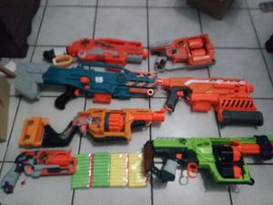 Nerf Zombie Lot 7 Guns for Sale in Miami, FL