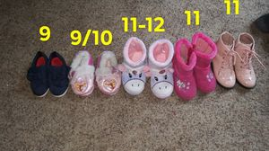 Toddler girls boots, slippers, and shoes for Sale in Pine City, NY