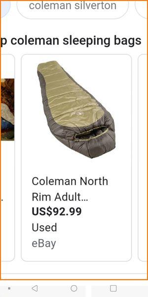 Coleman North Rim sub-zero sleeping bag for Sale in Columbus, OH