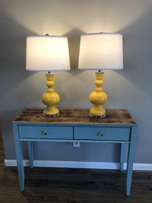 *Brand New Unused* Large apothecary lamps Goldenrod yellow, price for pair for Sale in Oregon City, OR