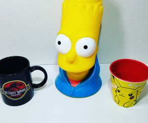 Jurassic Park, The Simpsons, Pokemon Pikachu Cups and Mugs! for Sale in Ontario, CA