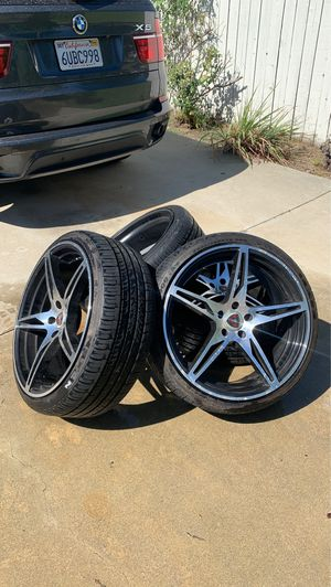 """20"""" rims and tires for Sale in Ontario, CA"""