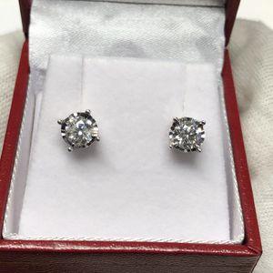 14K White Gold Round Diamond Stud Earrings 1.00 TCW for Sale in Scottsdale, AZ