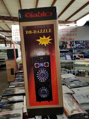 diablo bluetooth speaker 2800 watts for Sale in Fort Worth, TX