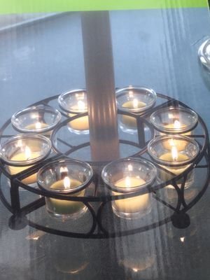 Centerpiece candle holder patio tables for Sale in Richmond, VA