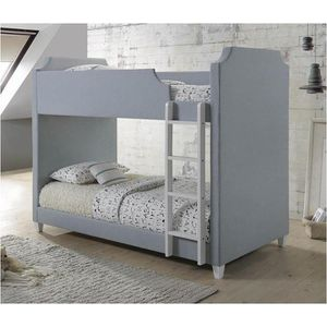 Twin/twin light grey bunk bed for Sale in Fresno, CA