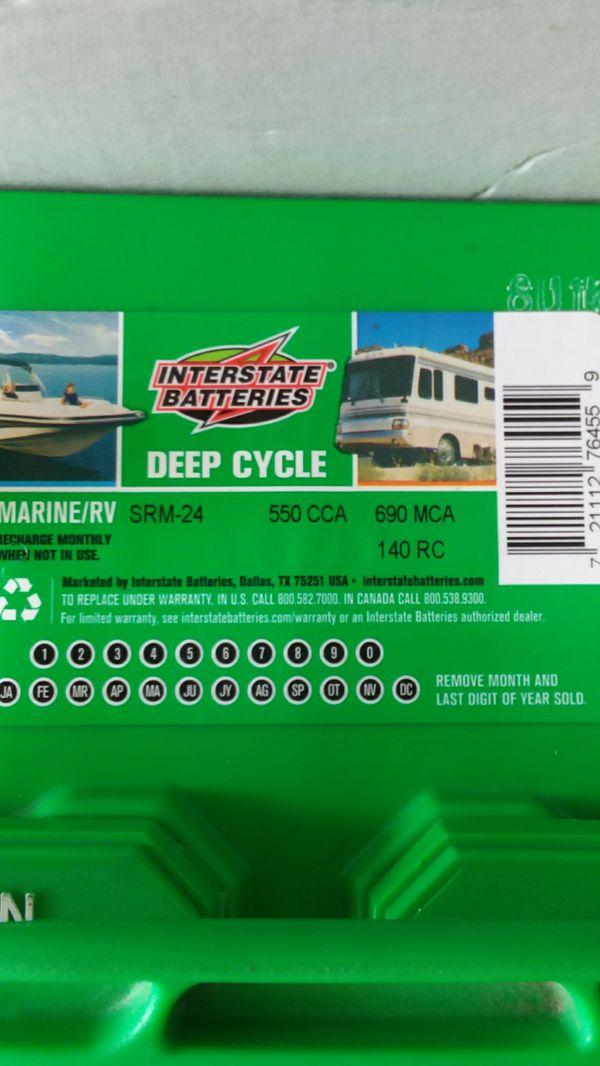 Interstate Deep Cycle Marine Battery >> Interstate Batteries Srm 24 Marine And Rv Deep Cycle Battery