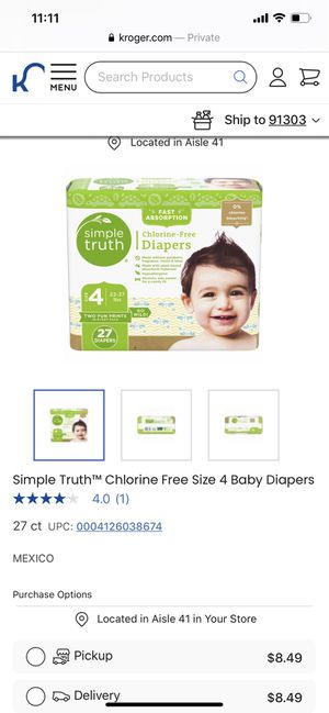 Diapers size 4 simple truth organic diapers for Sale in Los Angeles, CA